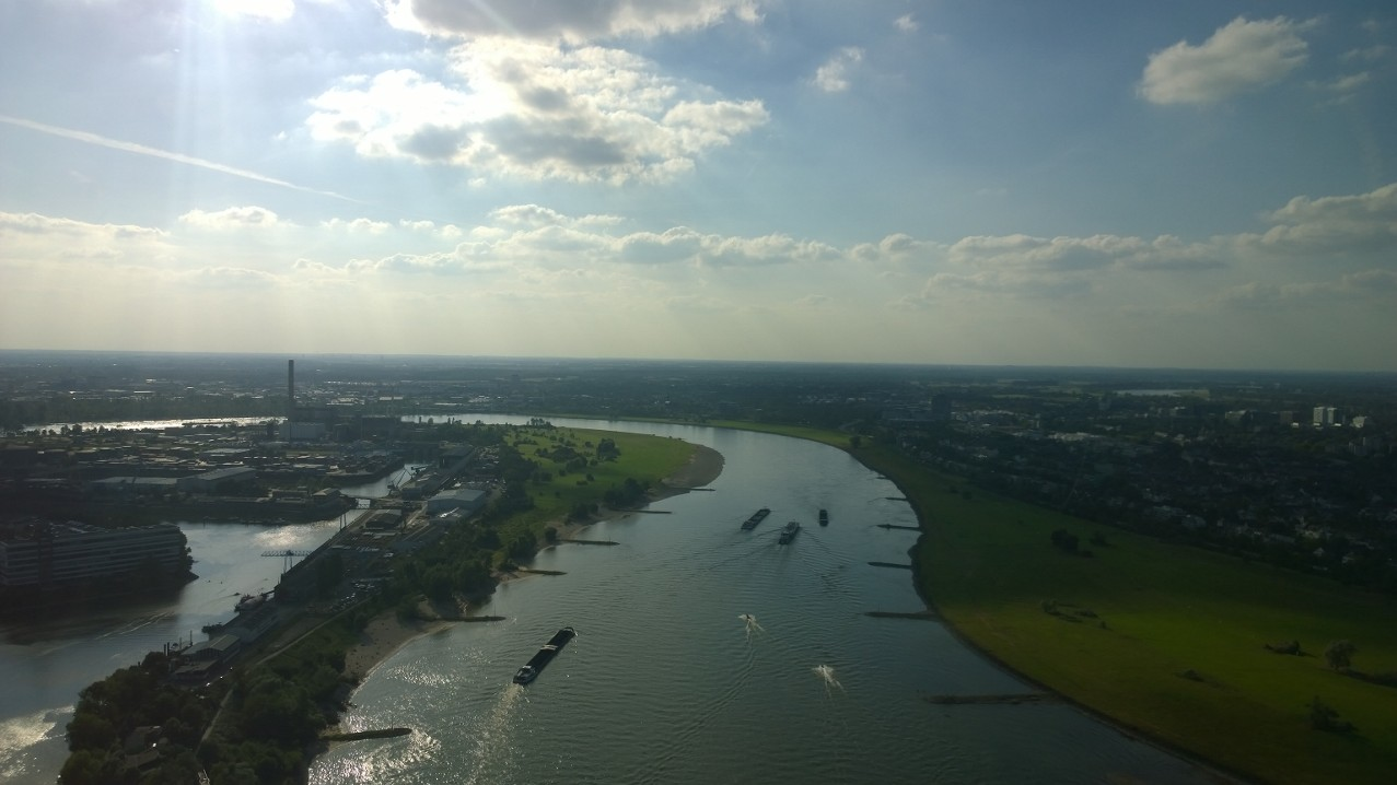 View from the Rhine Tower in Duesseldorf