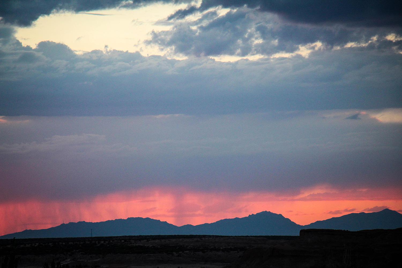 Sonnenuntergang in Fabens, Texas