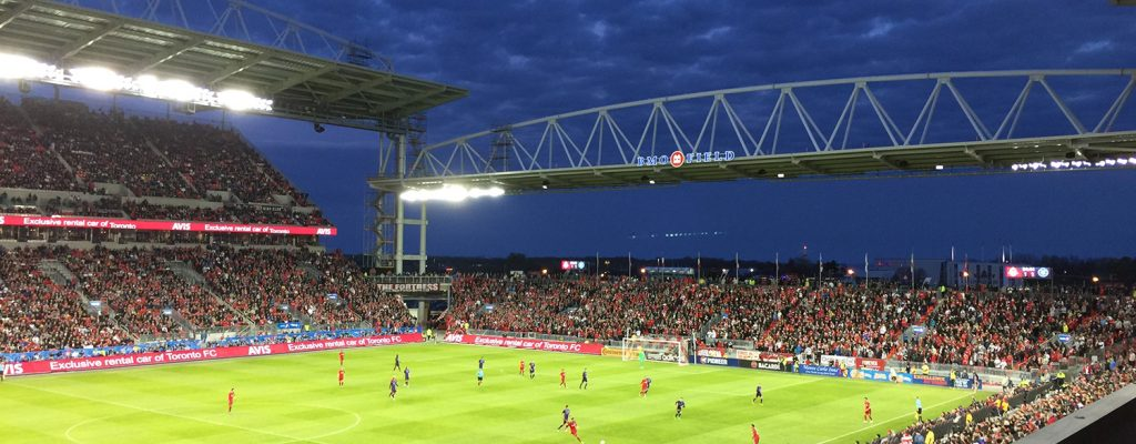 Night game at BMO Field