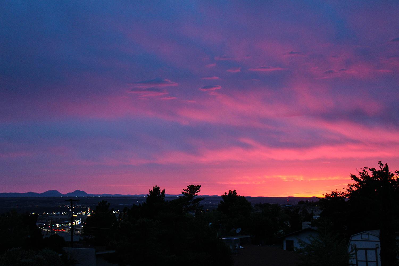 Sonnenuntergang in El Paso