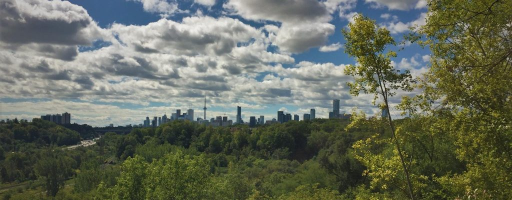 Wandern im Don Valley in Toronto
